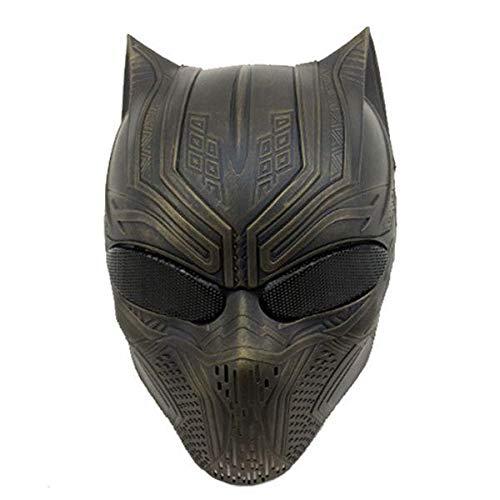 Halloween Skull Mask - Skull Mask For Halloween - Panther Skull Mask For Cosplay CS Skull Paintball War Game - Bronze (Skull Mask Halloween Face) ()