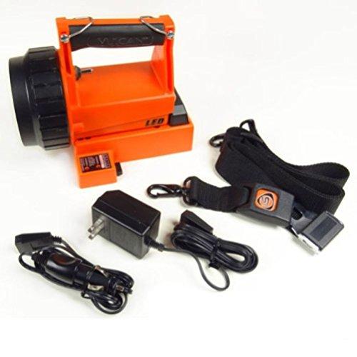 NEW Firefighter Fireman Orange Fire Vulcan LED Rechargeable Flashlight AC/DC Kit (Fire Vulcan Rechargeable Flashlight)