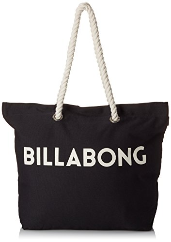 Bolsa de playa algodón, asas de cuerda, color negro, color Negro - negro, tamaño talla única Negro - negro