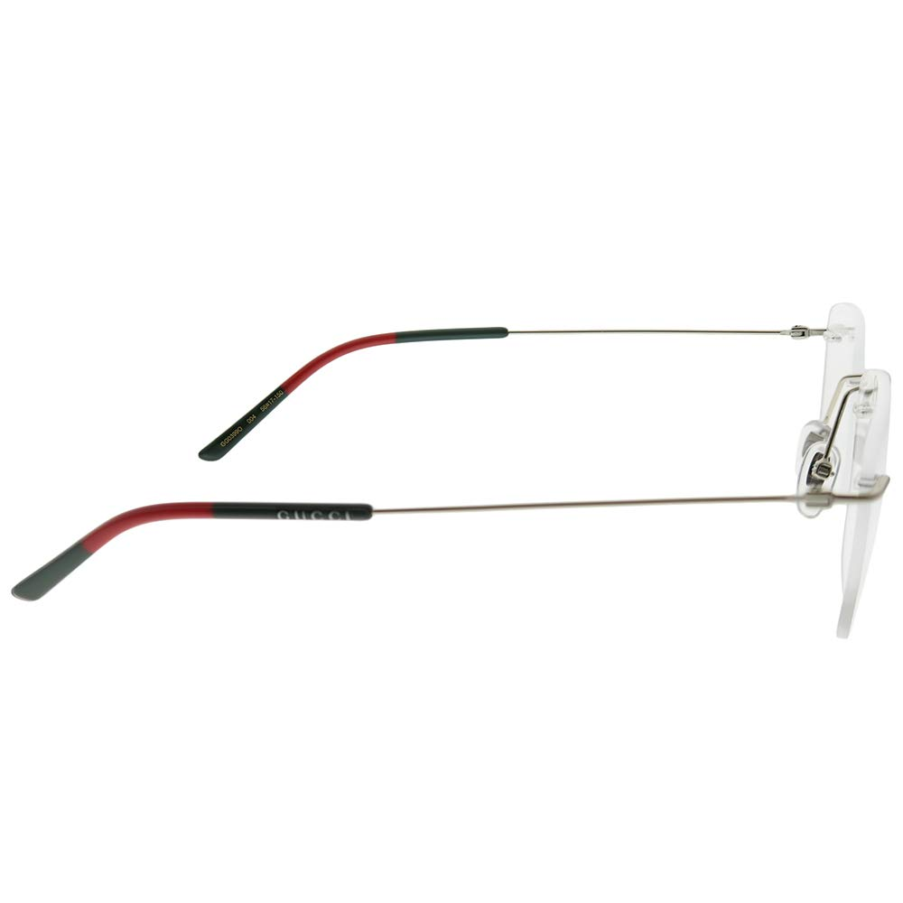 62fac189d6 Amazon.com  Gucci GG 0399O 004 Gold Metal Rimless Eyeglasses 56mm  Clothing