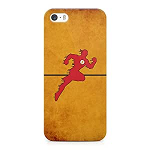 iPhone 5s Case Flash Run Vintage Tv Show Light weight Printed Edges Wrap around iPhone 5 Case