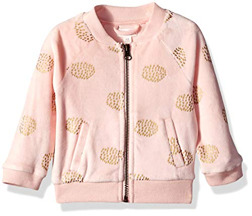 - Gymboree Baby Girls Long Sleeve Zip Up Jacket, Cherry Blossom Pink Velour 12-18 Mo
