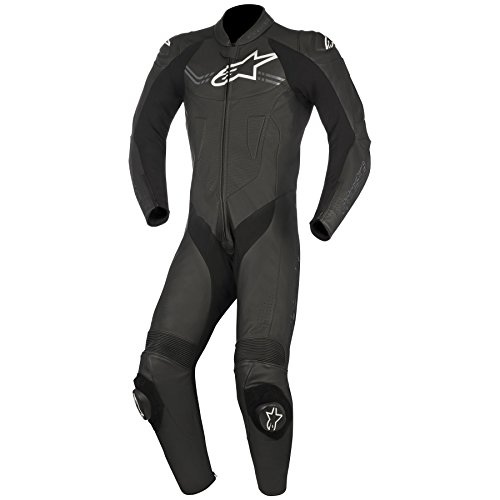 Alpinestars Challenger 1pc Leather Race Suit Black 48 (More Size Options) by Alpinestars