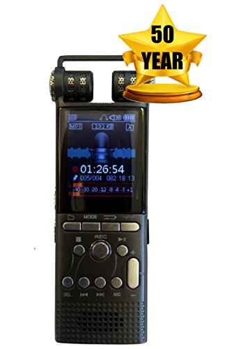 DeciVibe | 16GB | Celphone and Landline Call Recording | Digital Voice Recorder | 50 Year Warranty | Smartphone Cellphone Audio Recorders by Techerific