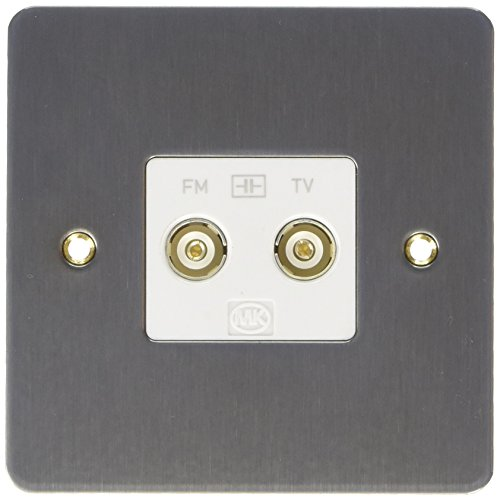 MK Edge K14322BRCW TV/FM Twin Isolated Diplexer - Brushed Chrome