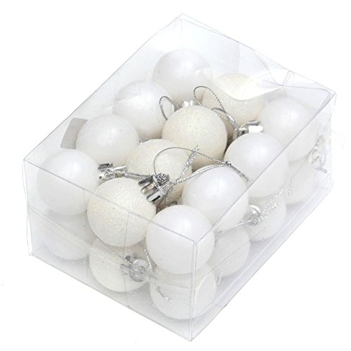 EXIU 24pcs Christmas Balls Ornaments for Wedding Christmas Party Tree Decoration, 30mm