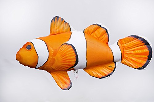 Pillows Giant Fish (Clownfish Toy by Gaby, Ocellaris Clownfish Novelty Toy, Fish Pillow)