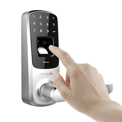 Ultraloq UL3-BT Bluetooth[Upgraded Version] Enabled Fingerprint and Touchscreen Smart Door Lock