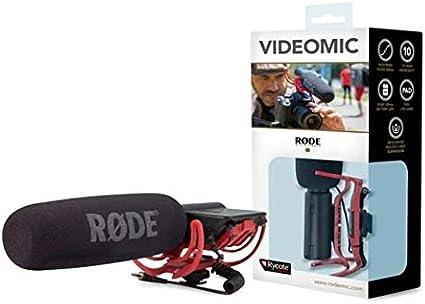 Rode VideoMic Rycote - Micrófono de condensador (estéreo, 9V, 80 ...