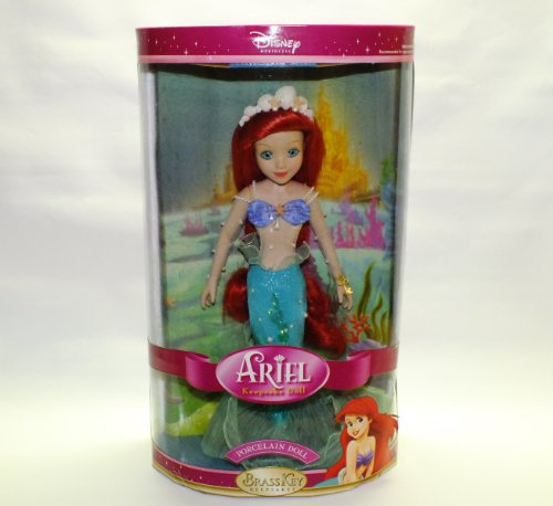 Disney Princess Ariel 14 Inch Porcelain Doll from Brass Key (Brass Key Keepsakes)