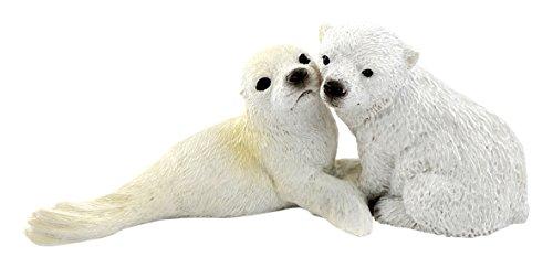 Top Collection Miniature Fairy Garden and Terrarium Baby Polar Bear and Seal (Polar Collection)