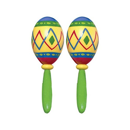 Groove Maracas - Fiesta Cinco De Mayo Green Plastic Maracas, 2 Ct. | Party Accessory