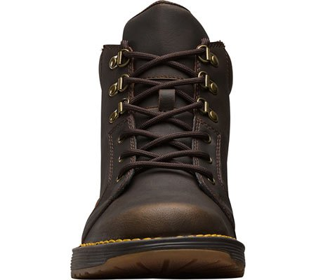 and Men's Dr Industrial Construction 6 Top Split Trae High Leather Dark Piedmont Martens Leather Shoe Brown Eye rFqx7rw