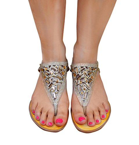 Ciara - Sandalias de vestir para mujer Beige
