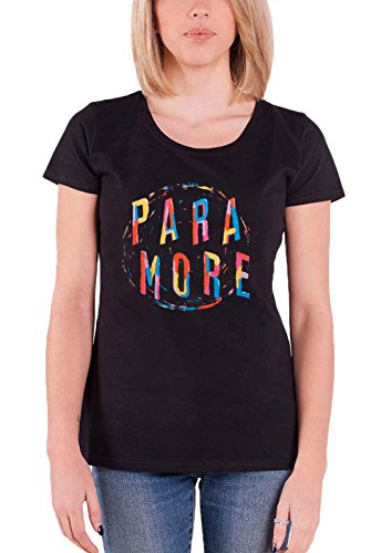 Paramore T Shirt Painting Spiral Band Logo Official Womens Junior Fit Black Size -
