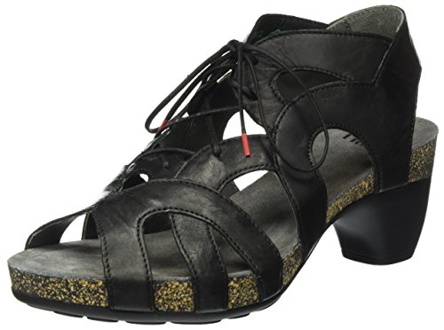 Think! WoMen Traudi Closed Toe Heels, Multicoloured Black (Schwarz 00)