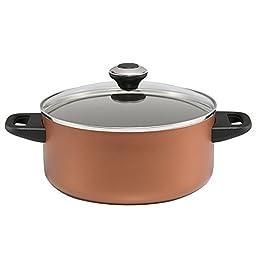 Paula Deen 21993 11 Piece Dishwasher Safe Nonstick Cookware Set, Large, Copper