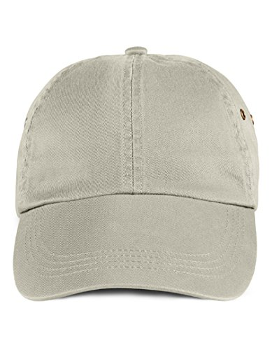 Anvil 156 Adult Solid Low-Profile Twill Cap Wheat Os
