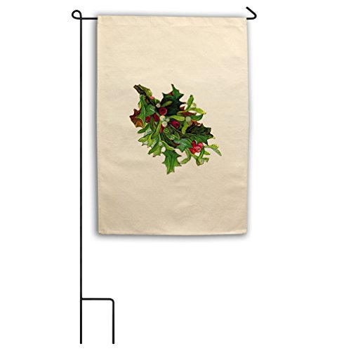 "Canvas Yard House Garden Flag 18""X27"" Christmas Flower Wreat"
