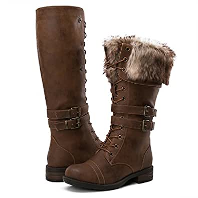 Amazon.com | GLOBALWIN Women's Fashion Winter Boots | Knee