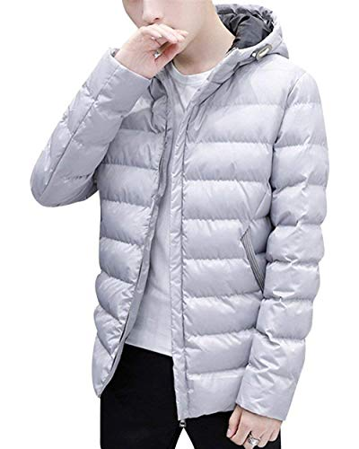 Pockets Apparel Rm Outerwear Jacket Winter Jacket Jackets Jacket Warming Hooded Men's Parka White Long Sleeve Side Coat wzPHtxq
