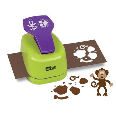 - McGill MC92024 2.5 in. Monkey and Frog Craftivity Designer Motif Punch