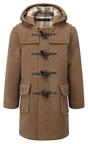 Kids Classic Duffle Coat (Toggle Coat) in Camel (10-13Y)