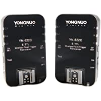 Yongnuo YN-622C-USA E-TTL 2.4-GHz Wireless Flash Trigger Transceiver Pair for Canon DSLRs, US Warranty (Black)