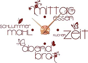 Graz Design Wandtattoo Uhr Für Küche Oder Esszimmer Mit Inschrift