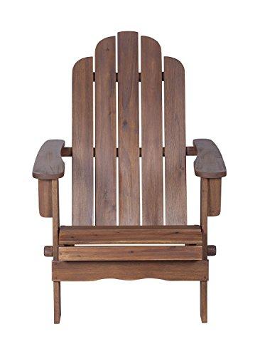 Priya Home Furniture Outdoor Backyard Acacia Adirondack Chair - Dark ()