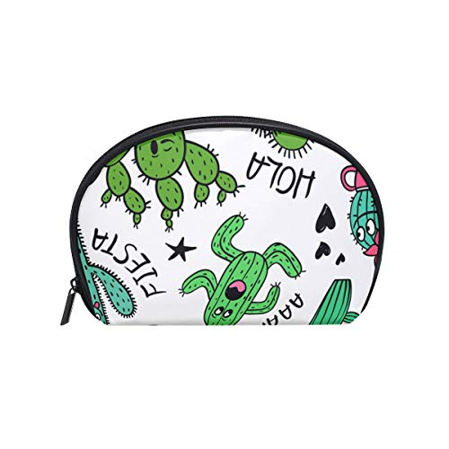 Makeup Cosmetic Bag Cartoon Cactus And Succulent Characters Pouch Clutch ()