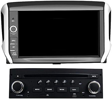 GOWE - Reproductor de DVD para coche con GPS Android de 8 pulgadas para Peugeot 208/2008 con Bluetooth/RDS/3G/WIFI/USB/ATV/iPod/Canbus/SWC/Mirrorlink/TPMS: Amazon.es: Bricolaje y herramientas