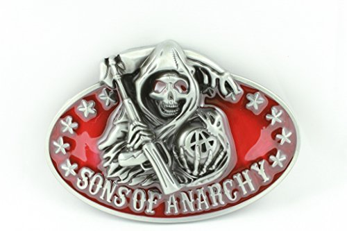 Deal Fashionista SAMCRO Red Sons of Anarchy Reaper Belt Buckle ()