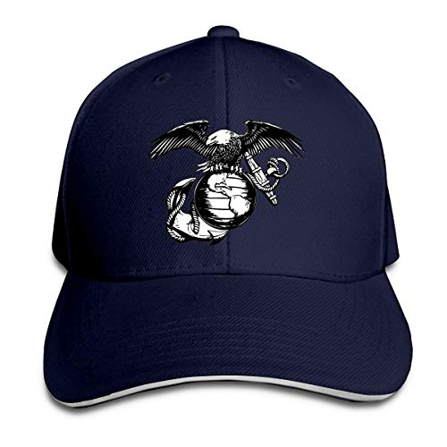 Eagle Globe Anchor USMC Marine Corps Adult Hats Unisex Solid Color Duck Tongue Hop Adjustable Baseball Cap Navy