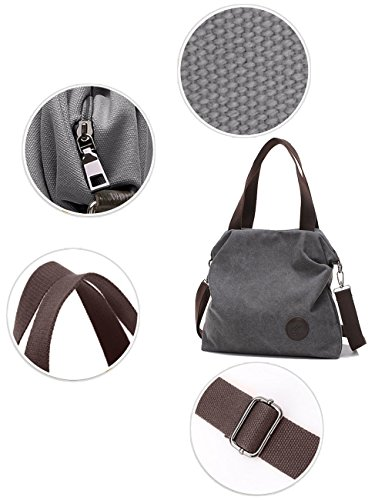 Hand Byd Bag Women's Shoulder Tote Female Mutil Crossbody Grey Function nqPv87n6p