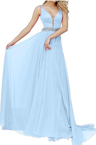 Abendkleider Festlichkleider mia Kleider Brau Brautjungfernkleider Formalkleider Elegant Blau Promkleider La Langes Jugendweihe Himmel dTqX4w8I
