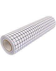 """VinylsDepot 12"""" X 50Ft Transfer Tape Roll for Adhesive Vinyl. With Printed Grid and Medium Tack Adhesive."""