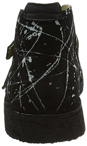 FLY London Cico904fly, Botines para Hombre Negro (Black(white)/black 000)