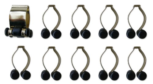 Iszy-Billiards-Pool-Cue-Billiard-Stick-Rack-Clip-with-Brass-Finish-10-Count