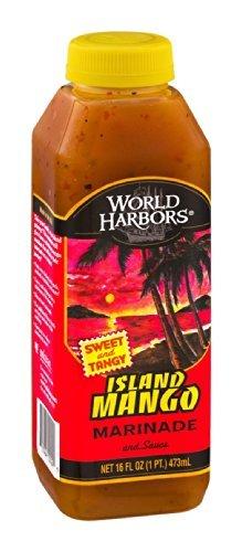 (World Harbors Marinade and Sauce Island Mango 16 OZ (Pack of 18))