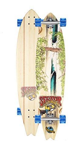Charger Sector 9 (Sector 9 Nicaragua Complete Skateboard Longboard Crusier (Blue Wheels, w/ Stock Bearings))