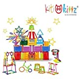 KITIKITTZ® Assembly Colorful Educational Building Smart City Blocks(Include 175+ Stick)for Kids