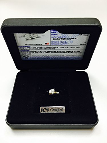 Two Stone Ring Forever Us 1/4 ct tw Diamonds 14K White Gold IGI USA Certified (Size 4.5 11)