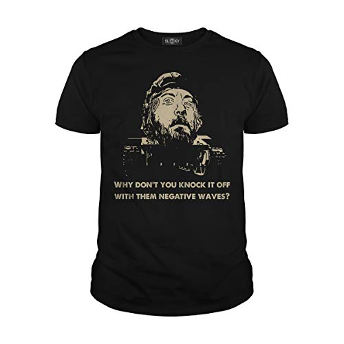 Men's Why Don't You Knock It Off with Them Negative Waves T-Shirt (2XL, Black)