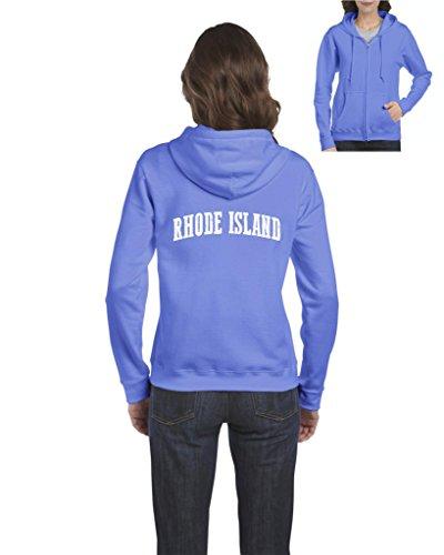 Ugo RI Rhode Island Providence Map Home of Rams University of Rhode Island Full-Zip Women's Hoodie - Ri Shopping Providence