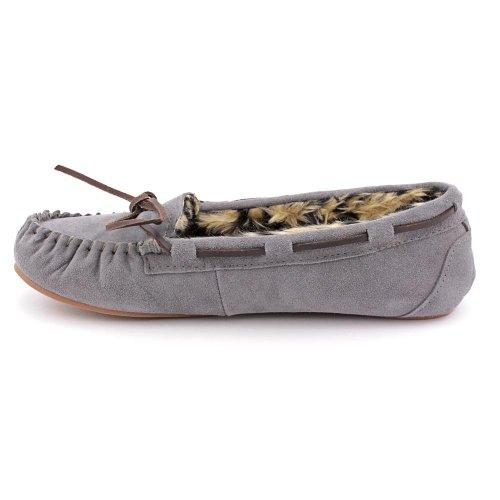 Grigio camoscio Donne Peggy Delle Tamarac Internazionale Da Pantofola Pantofole HIwH08