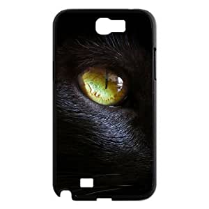DIY Phone Case for Samsung Galaxy Note 2 N7100, Black Cat Cover Case - HL-R637323