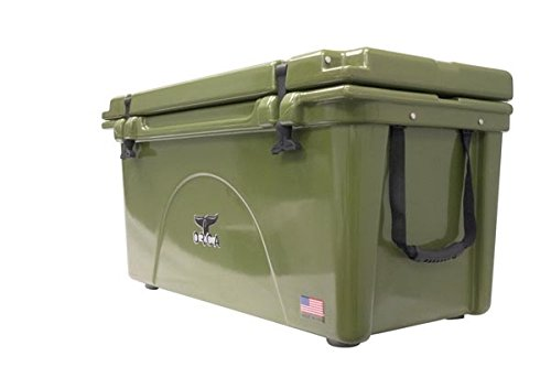 ORCA ORCG075 Cooler with Extendable flex-grip handles for comfortable solo or tandem portage, 75 quart, Green