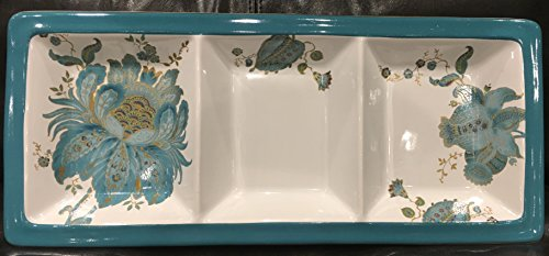 "222 Fifth Divided Tray Serving Dish Platter - 16.5"" long X 7"