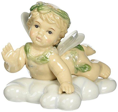 Cosmos 10077 Fine Porcelain Angel Boy on Cloud Figurine, 3-1/2-Inch